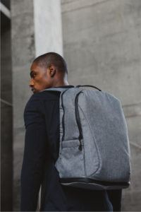 gym backpack gray