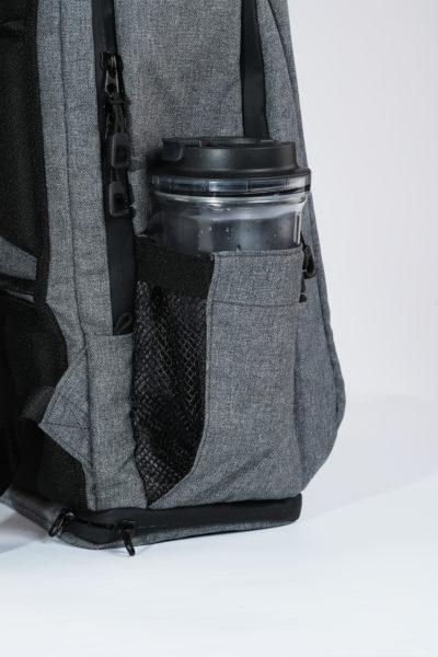 ad56ca9ff6 ARES Backpack Gray Side BottleHolder